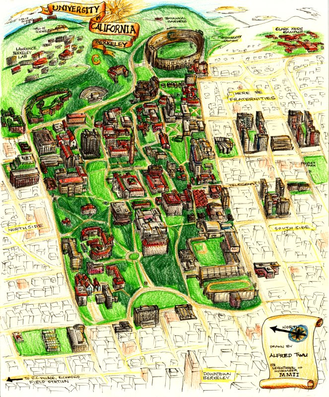 University Of Berkeley Map