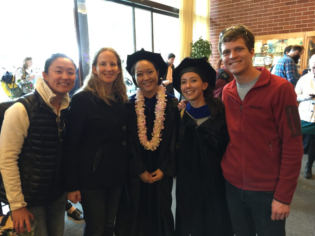 The little lab honors new graduates Akemi and Rebecca! - 5/20/2016