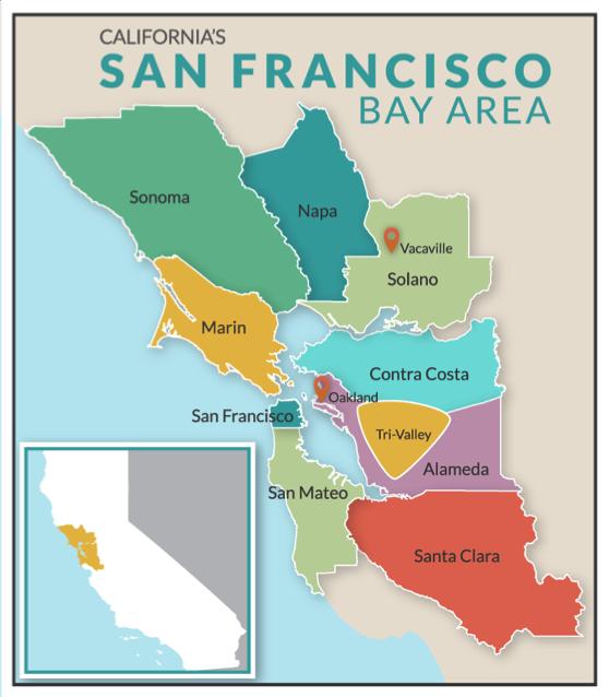 Bay Area Region Map – San francisco bay area is a region in california at latitude 37°36′00.00″ north, longitude 122°09′00.00″ west.