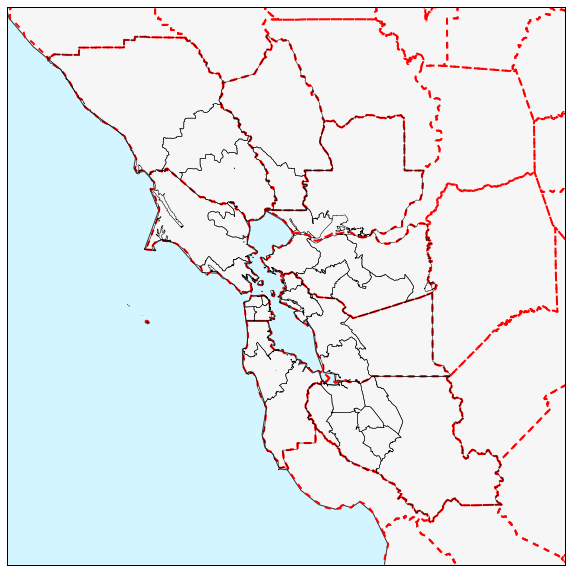 Bay Area Counties And Super Districts Eleanors Site - Bay area county map