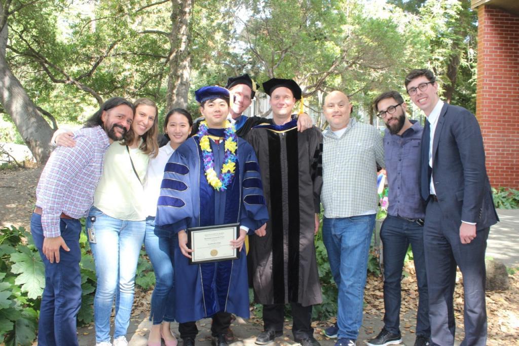 Graduations Drs. Kunitoshi Chiba and Ryan Forster, and Brendan Finnerty