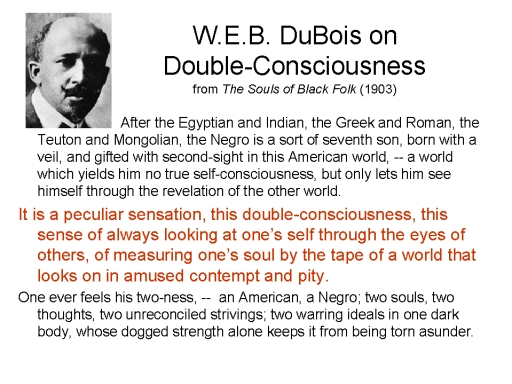 double consciousness web dubois essay Double-consciousness original essay by tamisha diaz and tiffany bolling and we decided to work together on web dubois's double consciousness.