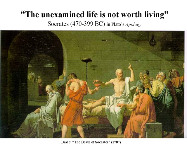 """socrates on the unexamined mind """"the unexamined life is not worth living"""" was spoken by socrates itself the statement packs a unique punch additionally, socrates said, """"in order to live life to the fullest one must analyze and explore the mind itself""""."""