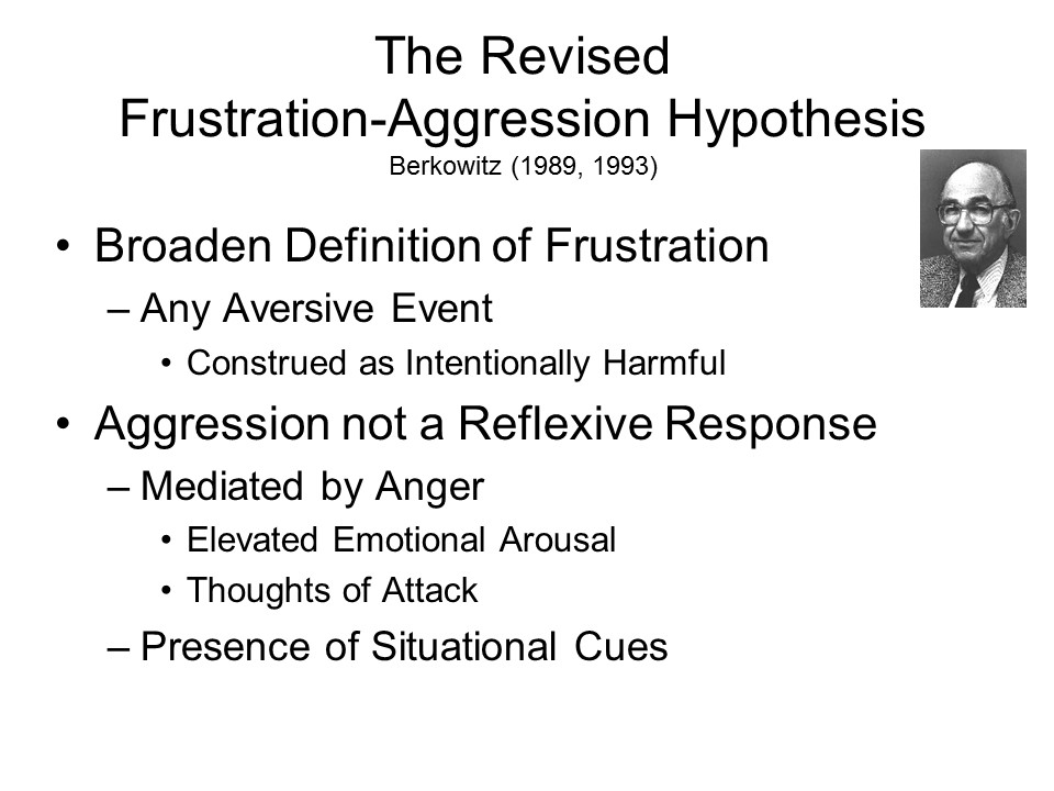 describe and evaluate the frustration aggression hypothesis Roots of aggression a re-examination of the frustration-aggression hypothesis by berkowitz, leonard 1926- and a great selection of similar used, new and collectible books available now at abebookscom.