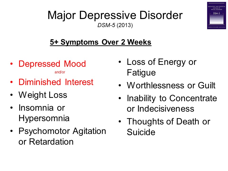 a brief description of major depressive disorder What is major depressive disorder depression can be caused by chemical imbalances in the brain, brought about by stress, experiencing a personal loss, or a traumatic experience research has been conducted to determine if depression could be caused by a genetic defect.