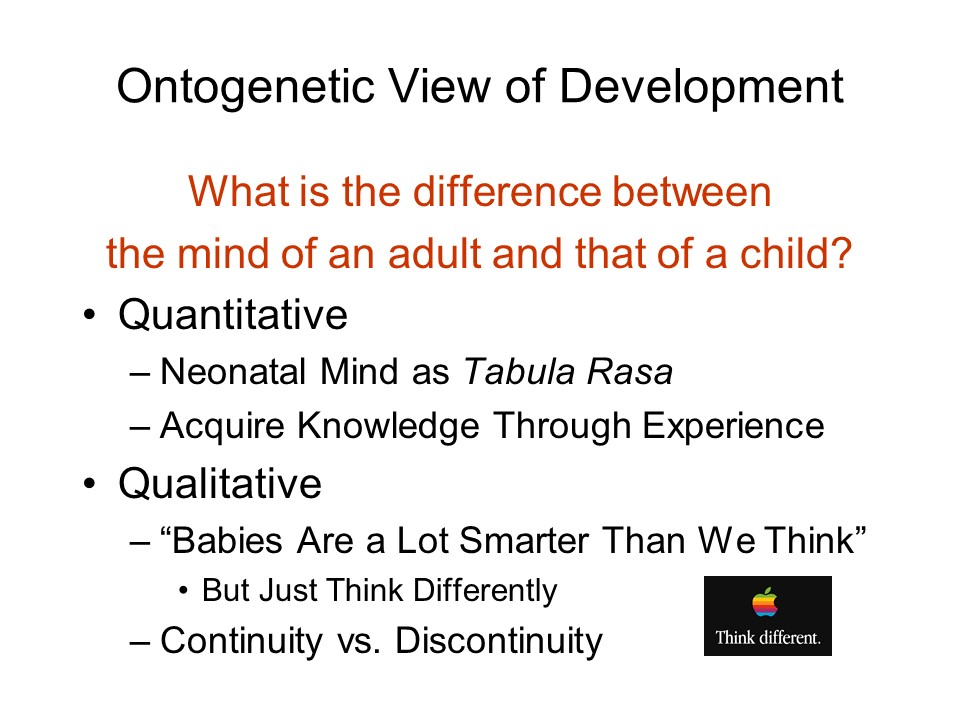 continuity vs discontinuity in child development