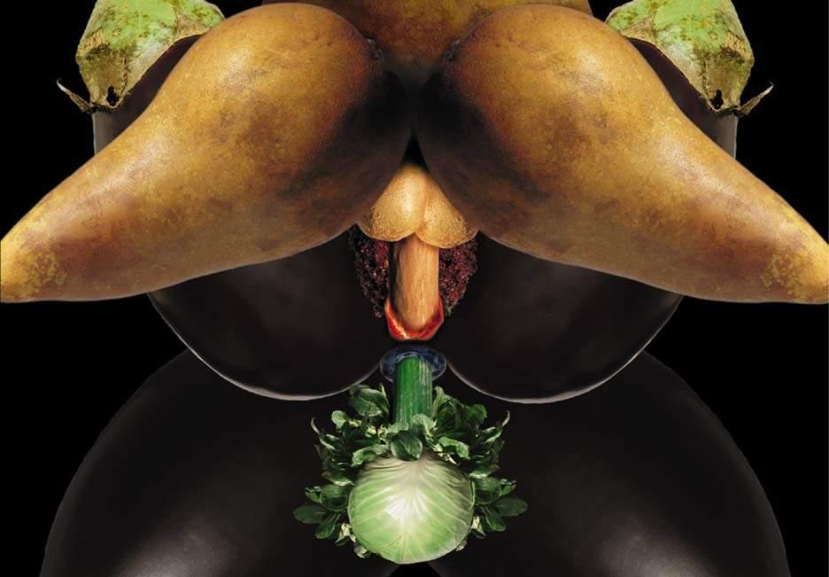 Силиконовых порно фрукты и овощи в эро дрочит