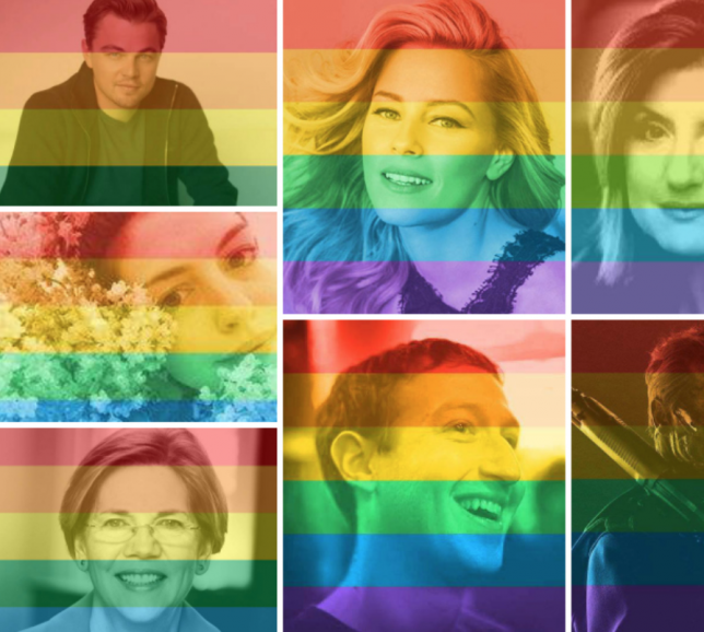 #LGBTQRights Facebook Filter Rainbow Flag