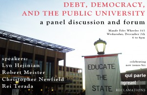 Debt, Democracy, and the Public University