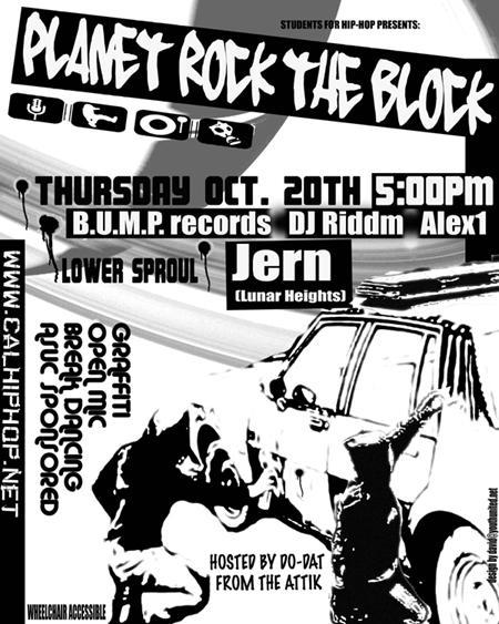 UC Berkeley Students For Hip-Hop: Planet Rock the Block