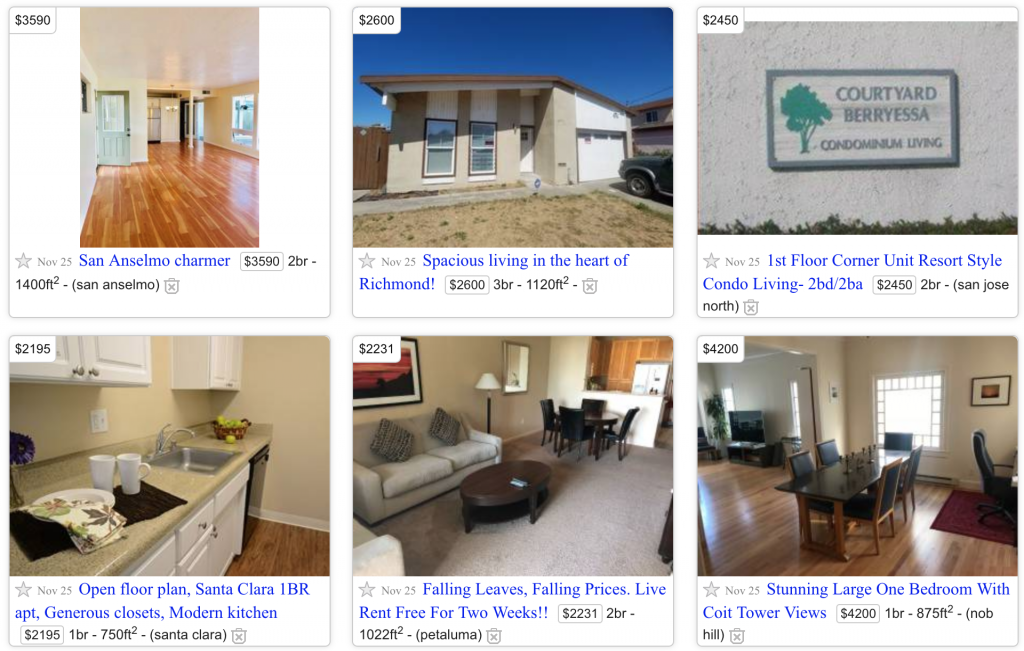 Find out the best deal rent in San Francisco from Craigslist